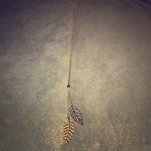 Knotted Feather Necklace